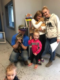 Purina New Year New Home Grant Adopted Family Photo