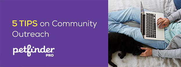 5 tips on community outreach header image black cat being pet