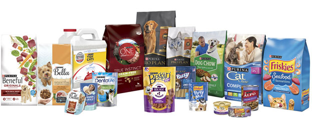 Assorted Purina Dog and Cat Food